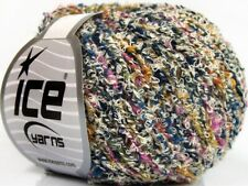Ice Bijoux Boucle Yarn #62691 Colorful White Multi Loopy Boucle 50 Grams