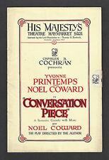 "Yvonne Printemps ""CONVERSATION PIECE"" Noel Coward Musical 1934 London Playbill"