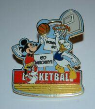 Disney Mickey Mouse & Donald Duck Basketball Slider Pin 2005