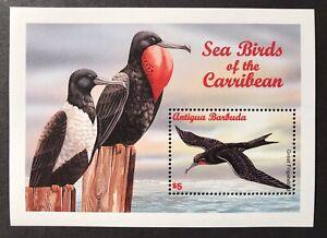 ANTIGUA SEA BIRD STAMPS S/S 1996 MNH GREAT FRIGATEBIRD CARIBBEAN WILDLIFE NATURE