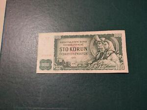 Czechoslovakia Banknote 100 Korun 1961 !!!!!!