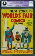 New York World's Fair #1940 CGC 4.0 DC 1940 1st Superman Batman Robin Cover! cm