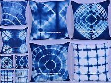 50 PC Indigo Tie Dye Cushion Cover Ethnic Indian Pillow Cases Boho Pillow Shams