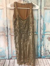 NWT MICHAEL Michael Kors Brown Sequin Party Slip Dress Size Xs Women's