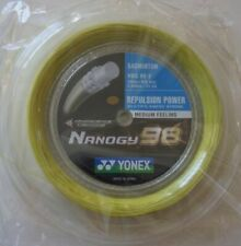 YONEX Nanogy 98 Badminton String 200m Coil NBG98-2 Yellow, Genuine Made in Japan