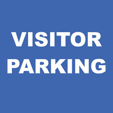 "Visitor Parking Sign 8"" x  8"""