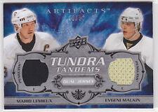 2008-09 Artifacts Tundra Tandems Silver #TTLM Mario Lemieux/Evgeni Malkin 23/50