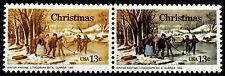 #1703e Var 13c Christmas 1976 Scarce Horiz Pair with Massive Color Errors *MNH*