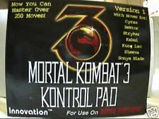 SNES Super Nintendo Mortal Kombat 3 III Control Pad V1 game