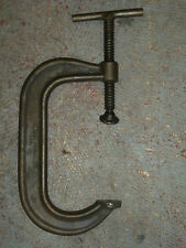 """Armstrong 6"""" C-Clamp No. 406, 3-1/2"""" Throat Depth, Chicago U.S.A."""