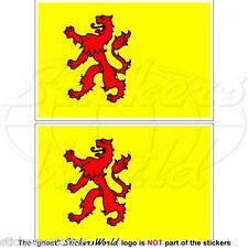 SOUTH HOLLAND Flag Netherlands Zuid-Holland Vlag Nederland Dutch 10cm Sticker x2