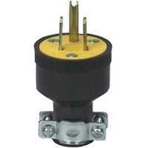 NEW CASE OF (10) COOPER 1709-BOX BLACK 15 AMP 120 VOLT 3 WIRE CORD PLUG 4181780