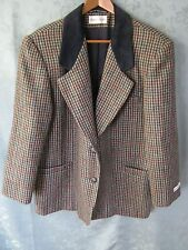 80's NWT Vintage Size 14 CHARLES KLEIN Wool Blazer Multicolor Houndstooth