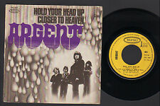 """7"""" ARGENT HOLD YOUR HEAD UP / CLOSER TO HEAVEN FRANCE 1972 PROGRESSIVE ROCK"""