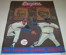 1991 TEXAS RANGERS MLB Program Magazine GEORGE W BUSH & HOF Ferguson Jenkins VG