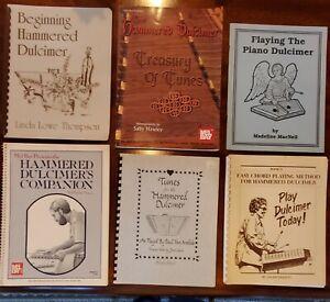 HAMMERED DULCIMER BOOKS - Set of 6 - Instruction and songbooks