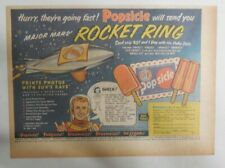 """Popsicle Ad: """"Major Mars Rocket Ring"""" Premium !  from 1952 Size: 7 x 10 inch"""