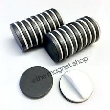 Self Adhesive Magnets 20pcs Strong Fridge Ceramic Ferrite 25mm