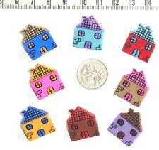 Novelty Button Embellishments Houses #150