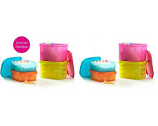Tupperware Modular Mates Mini Rectangle Set 850ml (4) and 1.9L (4), Free postage
