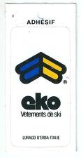Autocollant sticker EKO mode vêtement ski