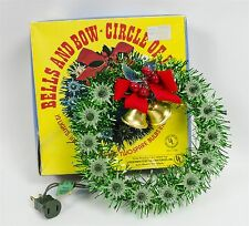 Vintage Christmas Bell & Bow Circle Of Lights Tree Topper Wreath Style 12 Bulbs