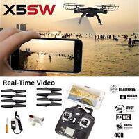 X5SW -1 Wifi FPV drone 2.4G RC Quadcopter Drohne mit HD-Kamera RTF Schwarz UAV T