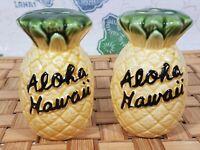 VTG Pineapple Aloha Hawaii Salt Pepper Shaker Set Figural Japan