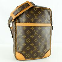 LOUIS VUITTON DANUBE MM Crossbody Shoulder Bag Purse Monogram M45264 Brown