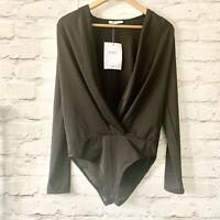 ZARA Black Bodysuit Top Size M   Smart CASUAL