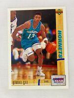 Kendall Gill Charlotte Hornets All-Rookie 1991 Upper Deck Basketball Card 39