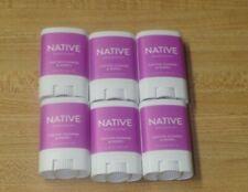 Lot Of 6 Native Deodorants Cactus Flower & Poppy .35 oz Travel Size Mini