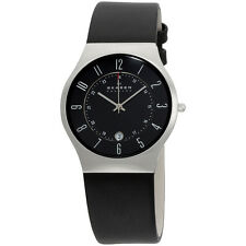 Skagen Black Dial Leather Strap Men's Watch 233XXLSLB