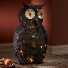 Lighted Black Owl  20 IN HIGH New