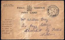 Uk Gb 1915 Military Fpo 44 Post Card To Scotland