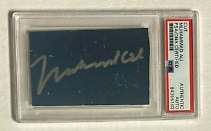 Muhammad Ali Signed Cut Boxing Hall Of Famer Bold Silver PSA/DNA Authenticated