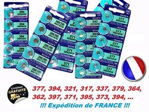 Pile bouton SONY batterie SR621SW 364 SR626SW 377 SR721SW 362 SR726SW 397 etc...