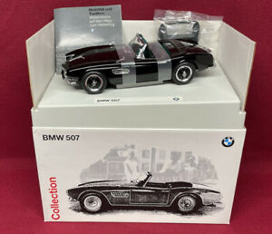 Black over Green BMW 507 1/18 Scale Diecast Model  - DEALER EDITION