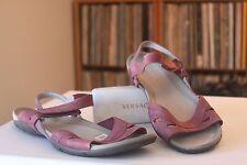 Merrell Barefoot Life Flicker Wrap Blushing Leather Sandals Women's Sz 11