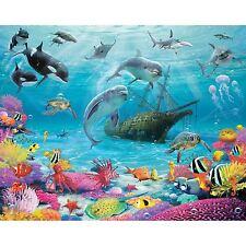 WALLTASTIC SEA ADVENTURE WALL MURAL 2.44m x 3.05m NEW WALLPAPER OCEAN