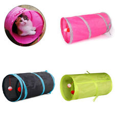HB- Funny Collapsible Cat Tunnel Tube Interactive Indoor Cat Peek 2 Holes Kitten