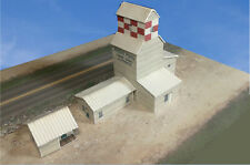Z Scale Building - Grain Elevator Cover Stock Paper Kit Pre-Cut GE2
