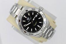 NEW NWT Tag Heuer Black Aquaracer Watch Mens WBD1110.BA0928 SS Mint Silver Box