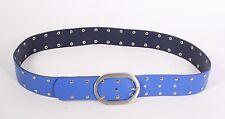 G3-143 Basic Gürtel Leder royal blau 95 cm Nietengürtel Hosengürtel NEU