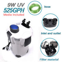 4-stage External Canister Filter with 9-watt Uv Sterilizer, 525 GPH Free Media