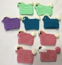 Vintage Lot Of 9 Handmade Crocheted Knit Easter Egg Covers Rooster Chicken