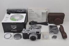 """8200 shot"" FUJIFILM X100S 16.3MP Digital Camera Silver w/ Leather Case #171005j"
