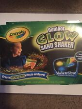 NEW SEALED BOX CRAYOLA OUTDOOR GLOW SAND SHAKER CREATE GLOWING EFFECTS OUTDOORS