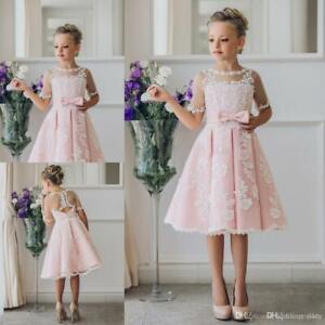 Blumenmädchen Kleid Prinzessin Kinder Festzug Party Tanz Hochzeit Geburtstag Bal