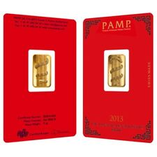 5 gram PAMP Suisse Year of the Snake Gold Bar (in Assay)